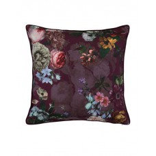 Essenza Fleur cushion Burgundy