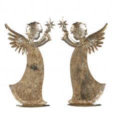 Engelen met ster in goud