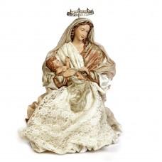 Maria Met Jezusbeeld Wit