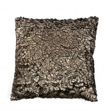 Metallic cushion brown