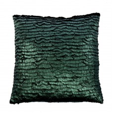 Metallic cushion green