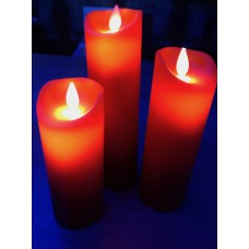 LED Kaarsen  Movin Flame Rood set van 3