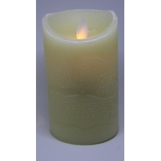 Ivoor Ledkaars Moven Flame Medium Wax 12,50 cm
