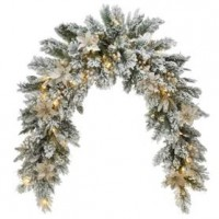kerstmantel  Frosted Colonial met Leds