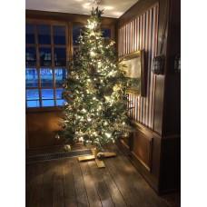 Kunstkerstboom naar keuze 210 cm met deco/ledverlichting